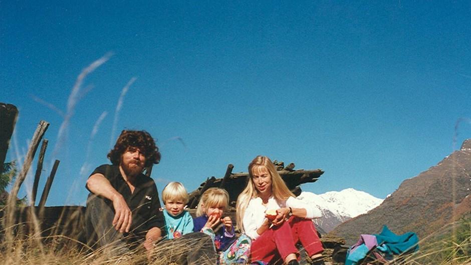 Messner mit Familie