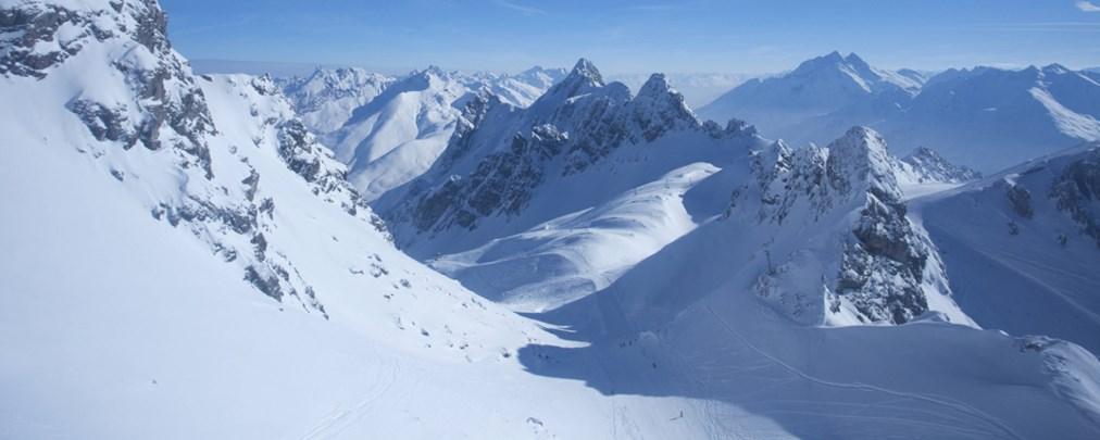 Hangelpartie am Arlberger Winterklettersteig
