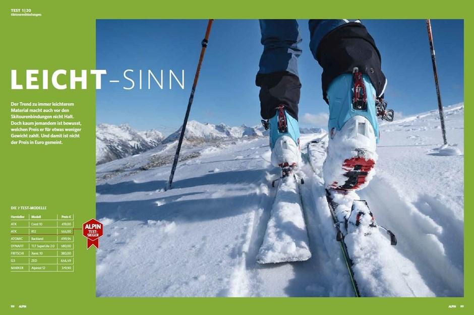 Test: Leichte Skitourenbindungen