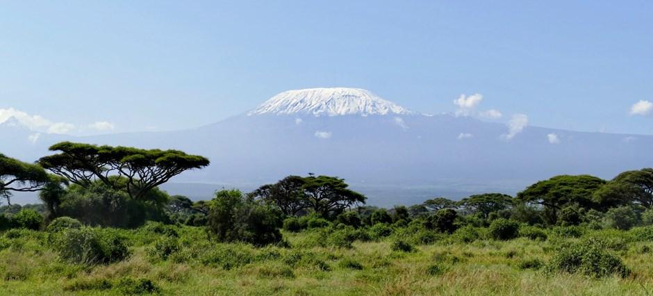 Blick auf den Kilimandscharo aus dem Amboseli-Nationalpark in Kenia