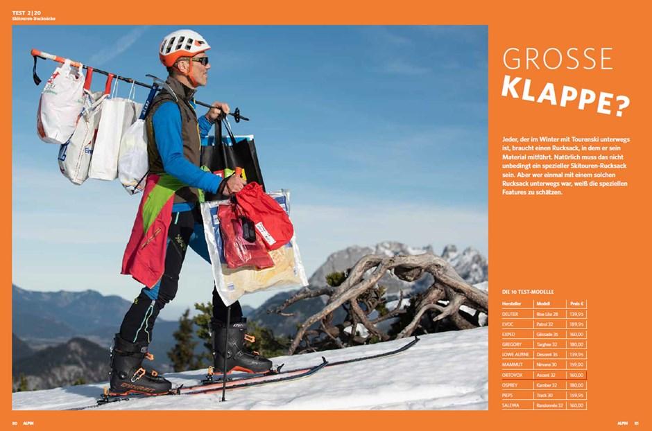 ALPIN-Test: Skitourenrucksäcke