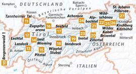 Übersichtskarte der Regionen in Tirol