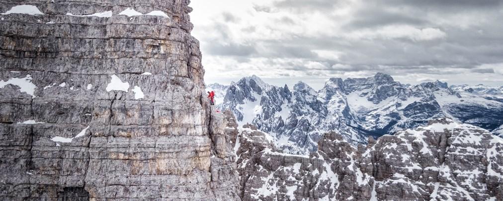 Drei Zinnen: Simon Gietl meistert Wintertraverse im Alleingang