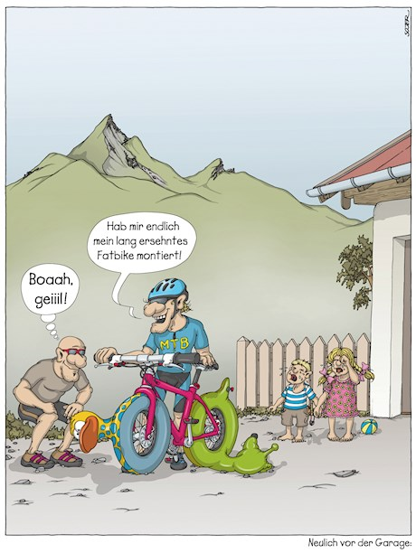 Fotogalerie: Bike-Cartoons mit Pointe