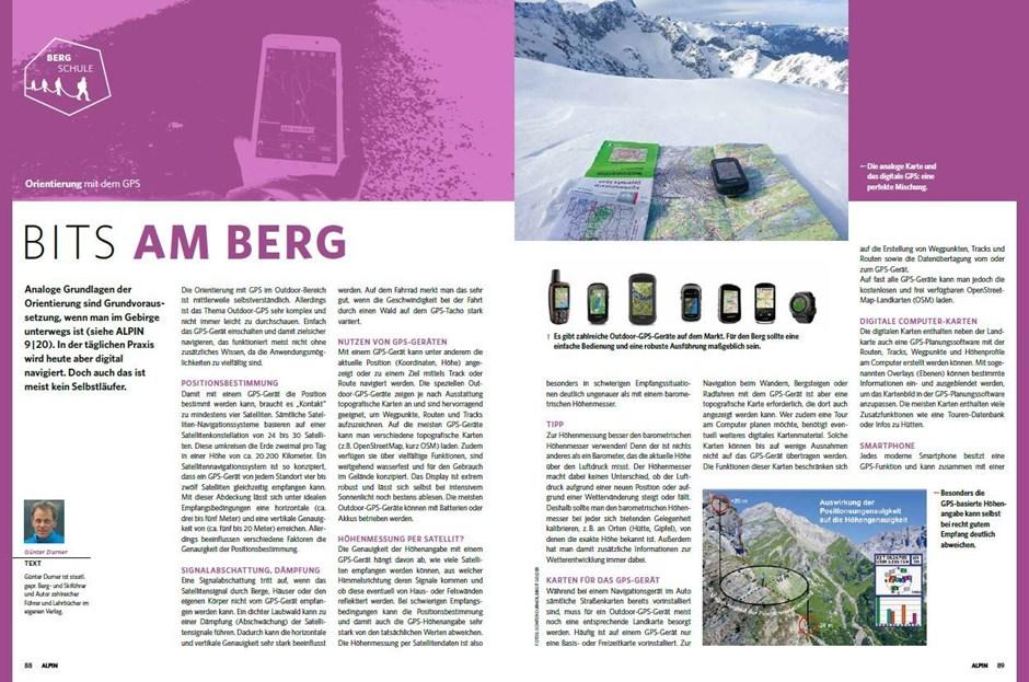 Bergschule: Orientierung per GPS-Gerät