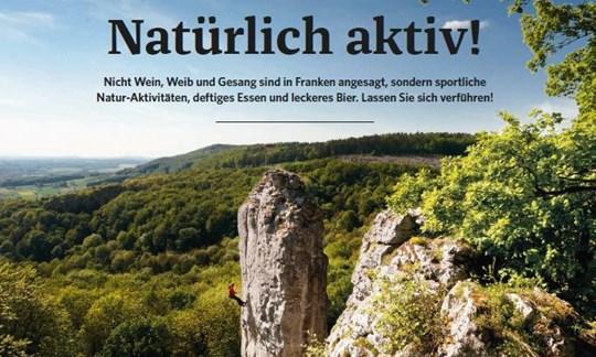 Aufmacherseite der vierseitigen Herbst-in-Franken-Reportage in ALPIN 10/2020.