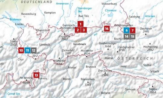 """Die Lage der in ALPIN <a href=""""https://leserservice.alpin.de/einzelhefte/alpin-heft-10-2020.html"""" rel=""""nofollow"""" target=""""_blank"""">10/2020</a> vorgestellten Touren."""