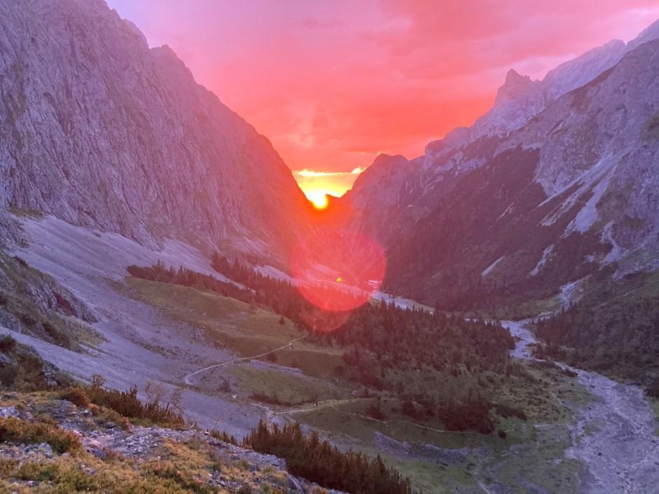 Höllental im Sonnenaufgang