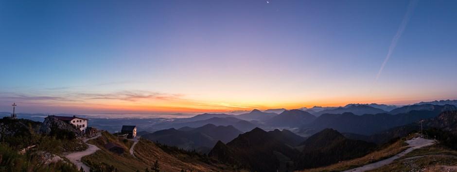 Sonnenaufgang im Chiemgau
