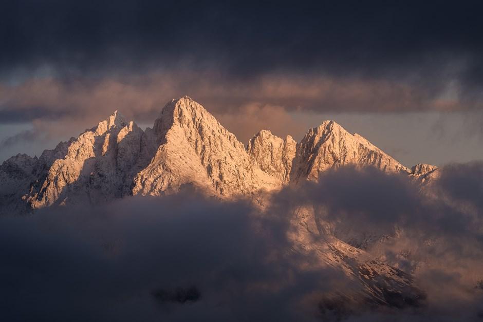 Sonnenaufgang in der Hohen Tatra