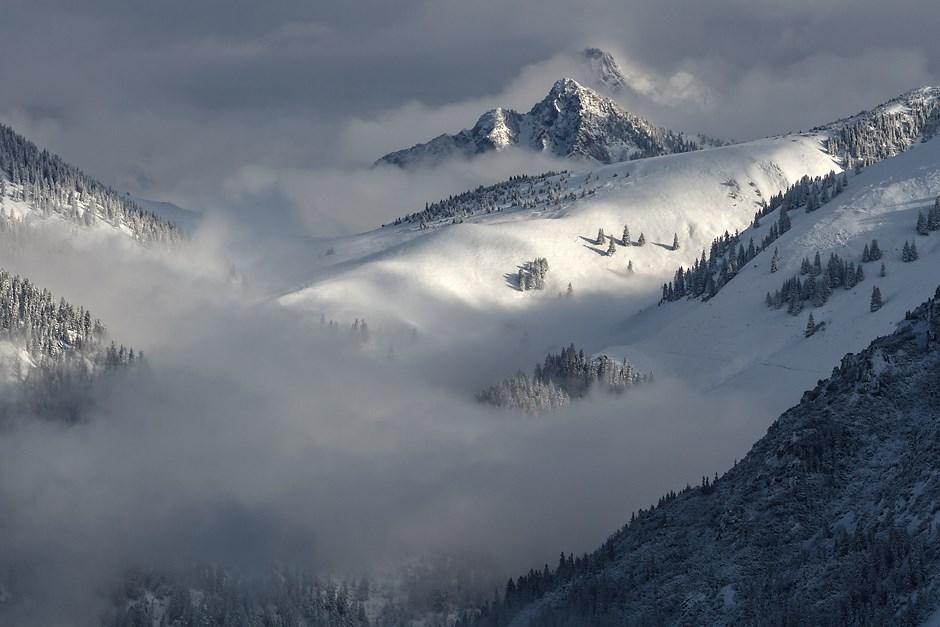 Spiel mit Licht, Nebel und Schnee