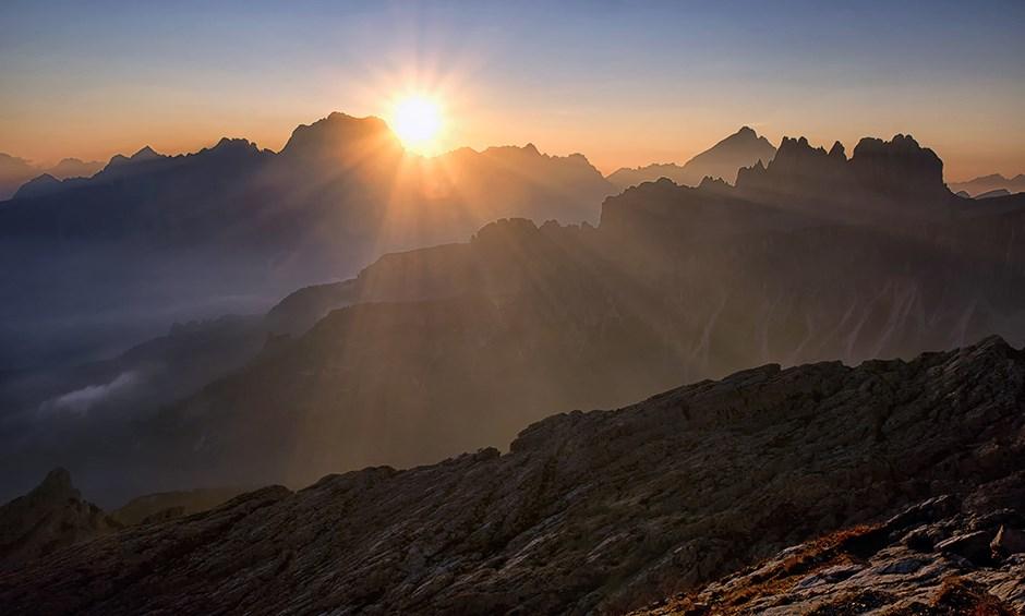 Sonnenaufgang vom Monte Nuvolau
