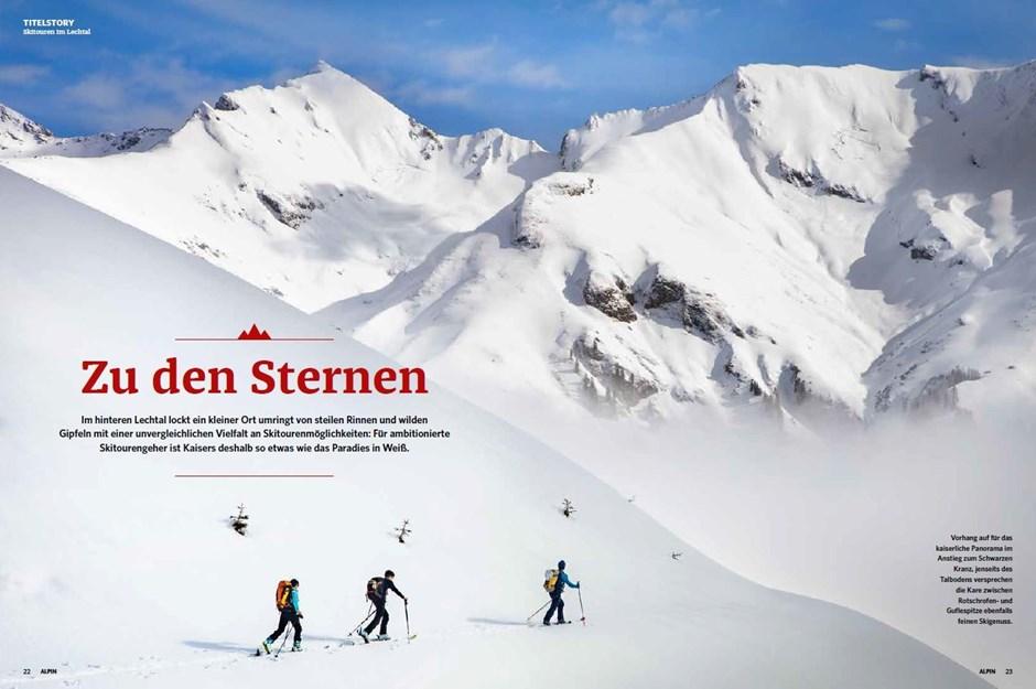 Titelstory: Skitouren im Lechtal