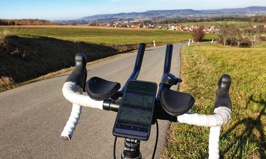 Sicher navigieren auf dem Rennrad mit dem SP Connect System.