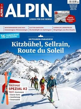 ALPIN 1/2021 ist ab sofort im Zeitschriftenhandel erhältlich.