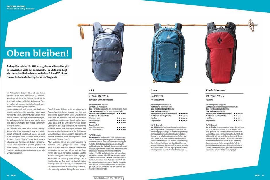 Skitouren-Spezial: Airbag-Rucksäcke im Produkt-Check