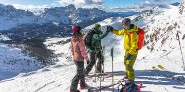 Skidurchquerung in den Sextener Dolomiten