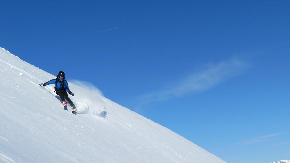 In der Gipfelflanke vom Roßkopf 2573m