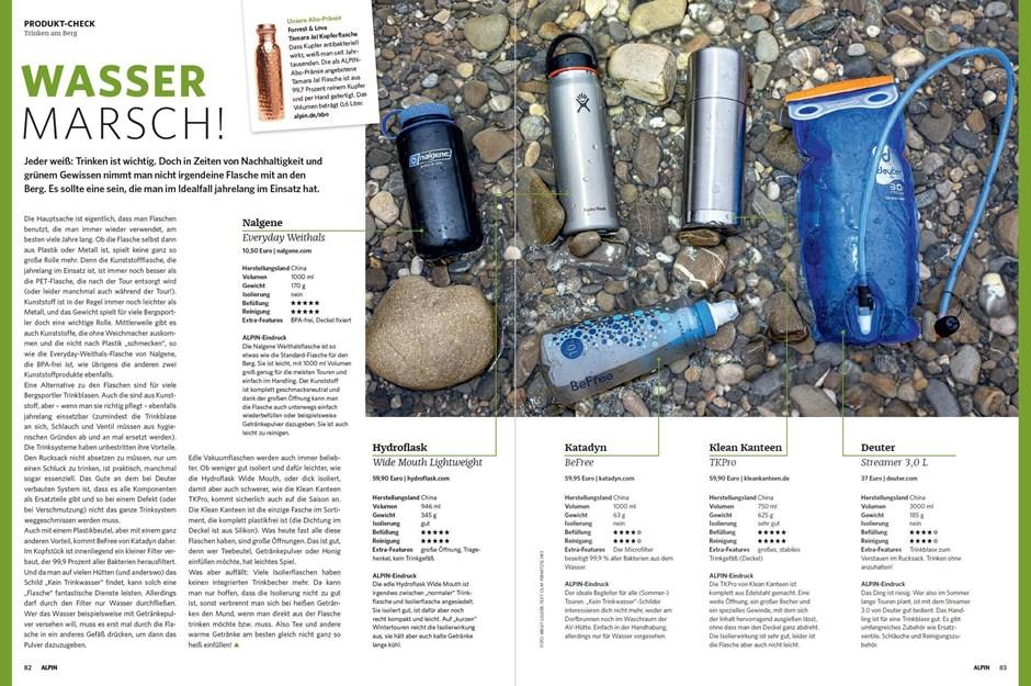 Produkt-Check: Nachhaltige Trinkflaschen und -systeme
