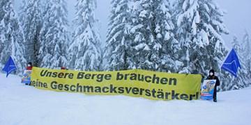 "Mountain Wilderness protestiert gegen ""Gamspark"" am Sudelfeld"