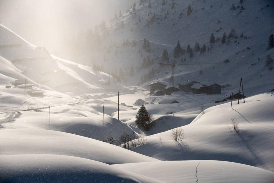 Das Hotel Adler im Skigebiet Warth mit seiner einzigartigen Lage am Hochtannenpass.