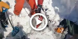 Video: Glückliches Ende einer Lawinenverschüttung