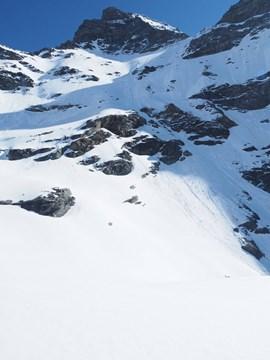 Ort des Unglücks: der Walliser Gletscher du Meitin.