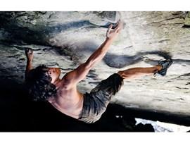 Klettern im Überhang
