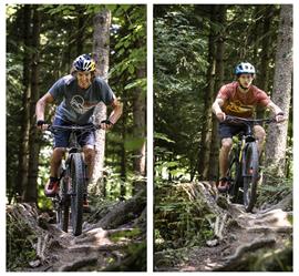 Machen auch auf dem Bike eine gute Figur: Stefan Glowacz (li.) und Philipp Hans.