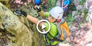 Video: Mit Kindern sicher am Klettersteig unterwegs