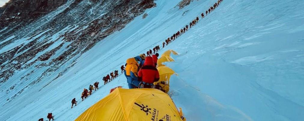 Schlange stehen am Mount Everest