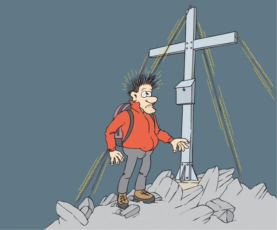 Tipp 1: Runter von Grat und Gipfel