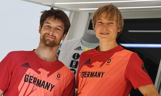 Deutsche Olympia-Kletterer: Alexander Megos und Jan Hojer.