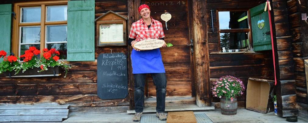 Erste Berghütte mit rein vegetarischem Angebot