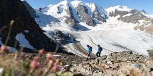 Klettersteig am Piz Trovat in der Berninagruppe
