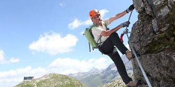 Peter Habeler am Kronprinz Rudolf-Klettersteig