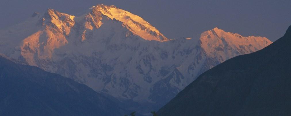 Sonneuntergang am Nanga Parbat.