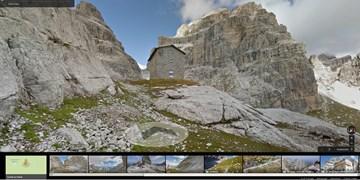Dolomiten mit Street View erkunden